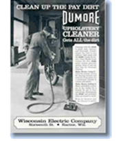 Historical Wisconsin Electric Company Dumore Brand Upholstery Cleaner Catalog
